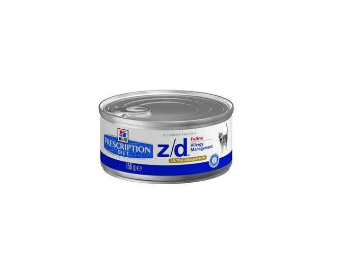 Hills Feline Z/D Ultra allergen Free 156 g konzerva