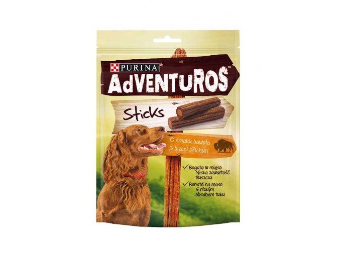 ADVENTUROS Sticks s bizoní příchutí 120g