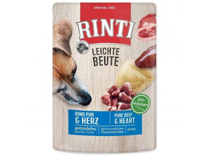 Kapsička RINTI Leichte Beute hovězí + kuřecí srdíčka 400 g
