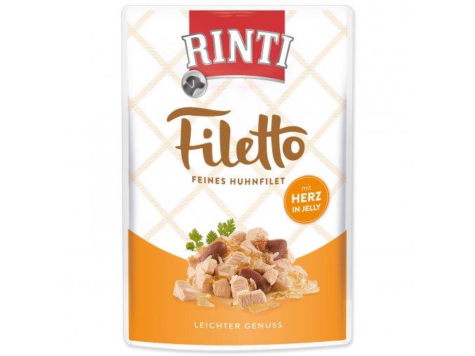 Kapsička RINTI Filetto kuře + kuřecí srdce v želé 100 g