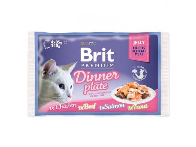 BRIT Premium Cat Kapsička Delicate Fillets in Jelly Dinner Plate 340g