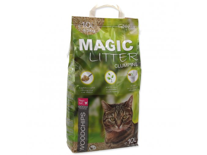 Kočkolit MAGIC CAT Litter Woodchips 10l 4,3kg