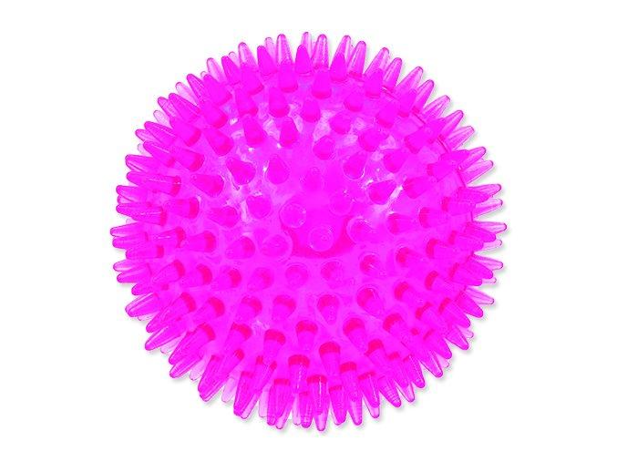 Hračka DOG FANTASY míček pískací růžový 10 cm