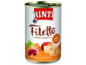 Rinti Konzerva Filetto kuře + kuřecí srdce v želé 420g