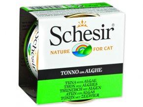 Schesir konzerva Cat tuňák + mořská řasa v želé 85g