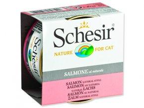 Schesir konzerva Cat losos přírodní 85g