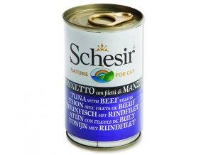 Schesir konzerva Cat tuňák + hovězí 140g