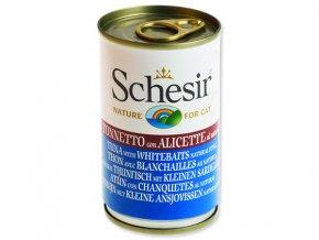 Schesir konzerva Cat tuňák + sleď 140g