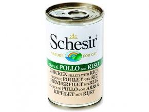Schesir konzerva Cat kuřecí + rýže 140g