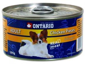 ONTARIO konzerva chicken pieces + chicken nugget 200g