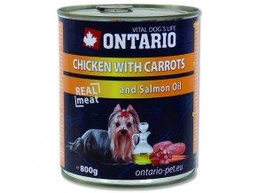 ONTARIO konzerva chicken, carrots, salmon oil 800g
