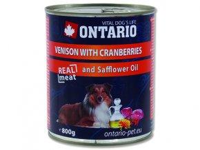 ONTARIO konzerva venison, cranberries, safflower oil 800g