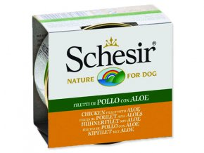 SCHESIR konzerva kuřecí + aloe v želé 150g