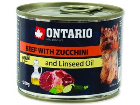 ONTARIO konzerva mini beef, zucchini, dandelion and linseed oil 200g