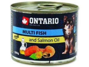 ONTARIO konzerva mini multi fish and salmon oil 200g