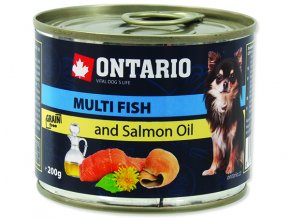 ONTARIO konzerva mini multi fish and salmon oil 200g