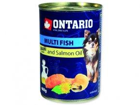 ONTARIO konzerva mini multi fish and salmon oil 400g