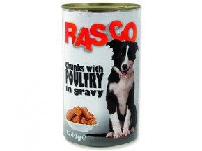 RASCO konzerva drůbeží kousky ve šťávě 1240g