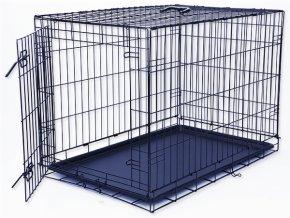 Klec DOG FANTASY skládací černá L - 1 dveře