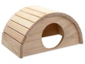 Domek SMALL ANIMAL Půlkruh dřevěný 31 x 20 x 15,5 cm