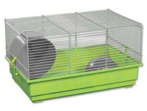 Klec SMALL ANIMAL Richard šedo-zelená se zelenou výbavou