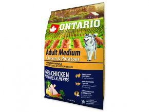 ONTARIO Adult Medium Chicken & Potatoes & Herbs 2,25kg
