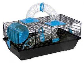 Klec SMALL ANIMAL Libor černá s modrou výbavou 50 cm