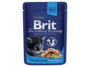 BRIT Premium Kitten kapsička Chicken Chunks  100 g