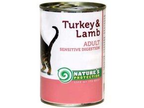Nature's Protection Cat konzerva Sensitive krůta/jehně 400 g