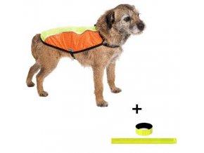 Reflexní vesta Blesk oranžovo-zelená (vekikost 60 cm)