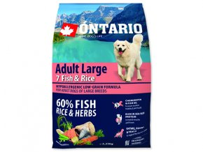 ONTARIO Adult Large Fish & Rice 2,25 kg