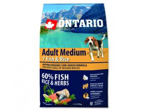 ONTARIO Adult Medium Fish & Rice 2,25 kg