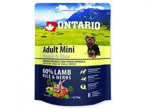 ONTARIO Adult Mini Lamb & Rice 0,75 kg