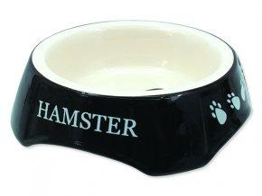 Miska SMALL ANIMALS potisk Hamster černá 13 cm