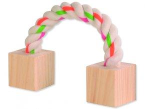 Hračka TRIXIE lano s kostkami 20 cm