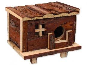 Domek SMALL ANIMALS srub dřevěný s kůrou 18 x 13 x 13,5 cm