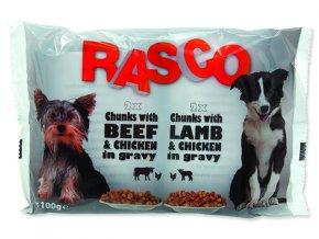 Kapsičky RASCO Dog s kuřecím a hovězím / s jehněčím a kuřecím multipack 400g
