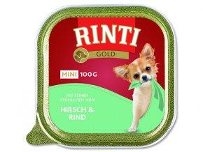 Vanička RINTI Gold Mini jelen + hovězí 100g