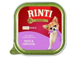 Vanička RINTI Gold Mini kachna + drůbež 100g