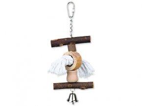Hračka TRIXIE Living Toy provaz / zvoneček 20 cm