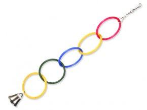 Hračka TRIXIE kruhy s řetízkem a zvonečkem 25 cm