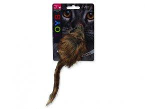 Hračka MAGIC CAT myš plyšová Gigant s catnipem 21 cm
