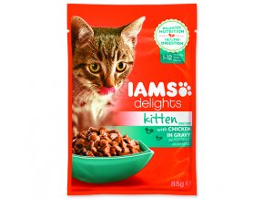 IAMS kapsička kitten delights chicken in gravy 85 g
