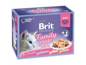 BRIT Premium Cat Kapsička Delicate Fillets in Jelly Family Plate 1020g