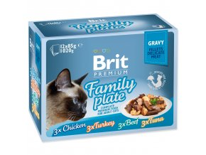 BRIT Premium Cat Kapsička Delicate Fillets in Gravy Family Plate 1020g