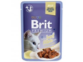 BRIT Premium Cat Kapsička Delicate Fillets in Jelly with Beef 85g