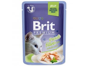 BRIT Premium Cat Kapsička Delicate Fillets in Jelly with Trout 85g
