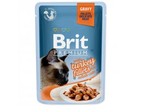 BRIT Premium Cat Kapsička Delicate Fillets in Gravy with Turkey 85g