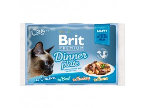 BRIT Premium Cat Kapsička Delicate Fillets in Gravy Dinner Plate 340g