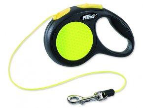 Vodítko FLEXI Classic New Neon lanko XS - 3 m